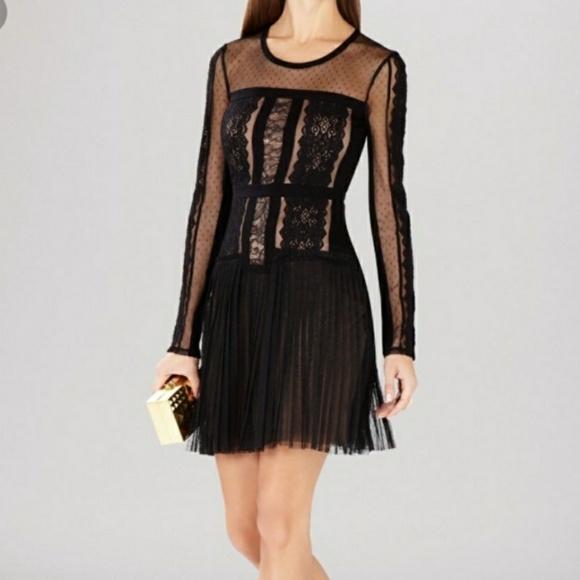 BCBGMaxAzria Dresses & Skirts - NWT BCBG BLACK AND TAN DRESS SIZE M NEVER WORN